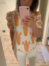 Load image into Gallery viewer, Sunday Blouse in blush Zebra