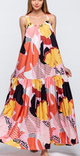 Load image into Gallery viewer, Floral Maxi Dress - orange