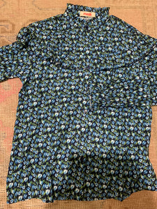 Floral Blouse - Navy