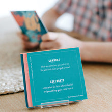 Load image into Gallery viewer, Connection Cards for Families and Friends - the BEST conversation starters for families and groups and gratitude prompts to help your kids develop a habit of gratitude