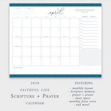 Load image into Gallery viewer, 2020 Scripture + Prayer Calendar