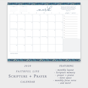 2020 Scripture + Prayer Calendar