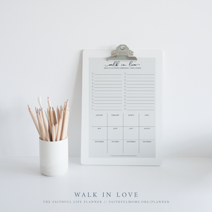 Walk in Love Service Tracker