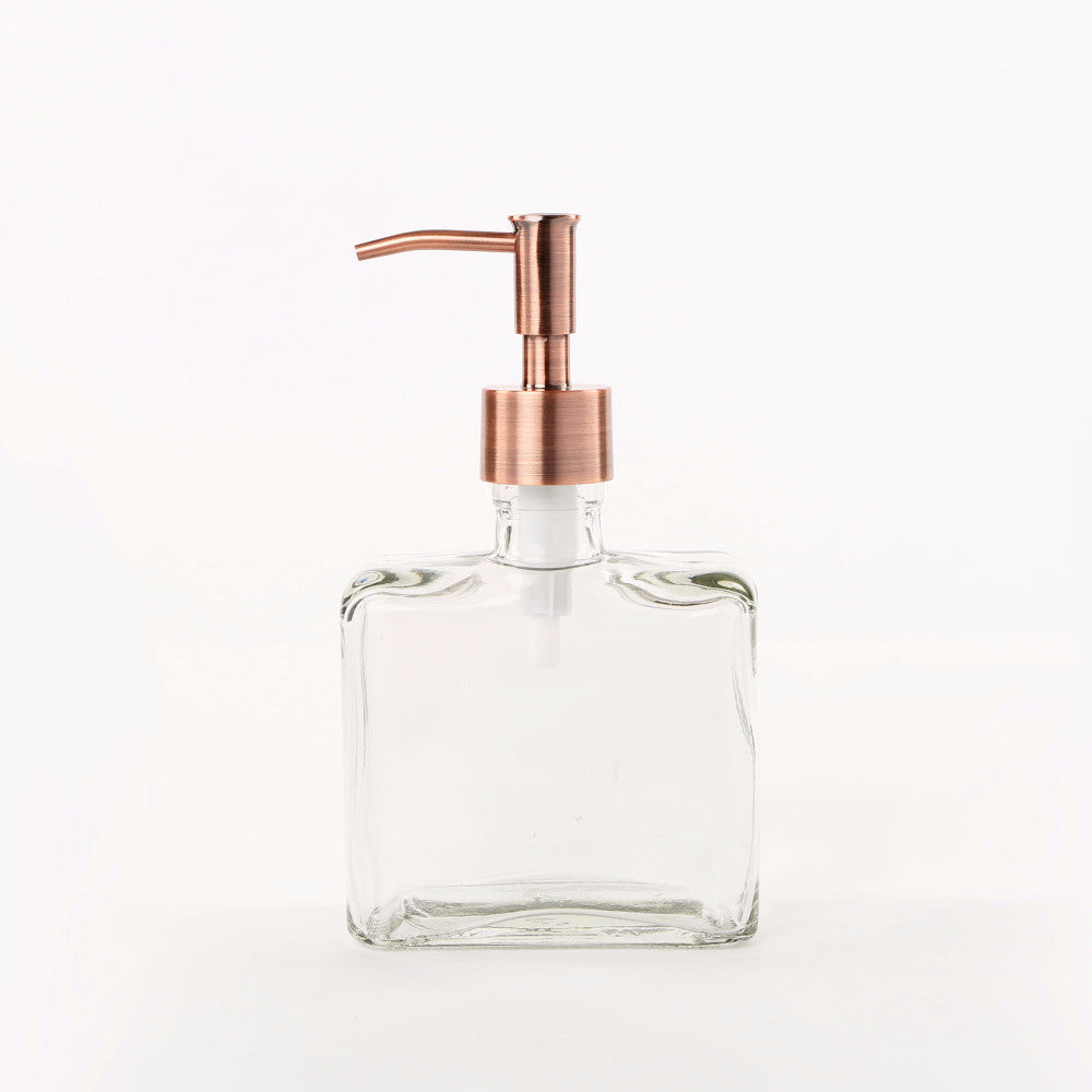 Boxy Copper Soap Dispenser