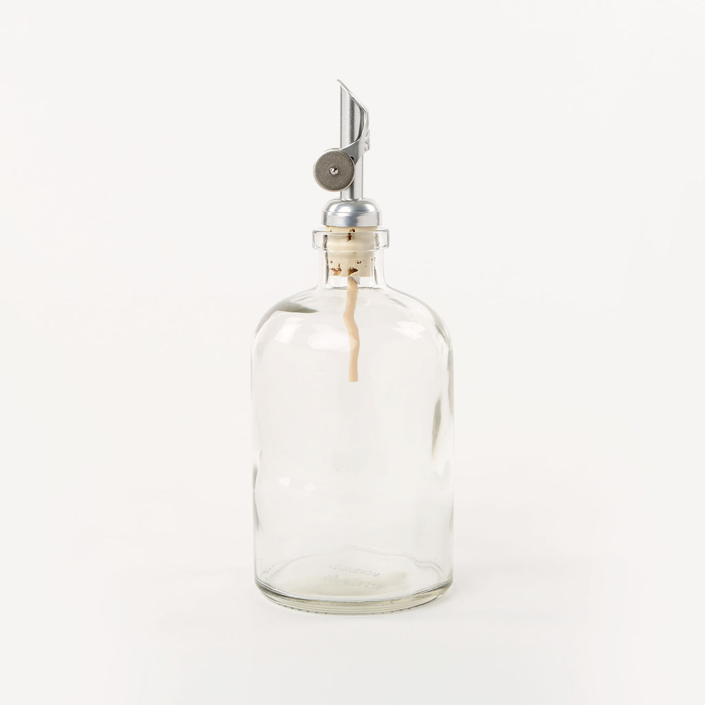 Silver Tip Spout Apothecary Dispenser