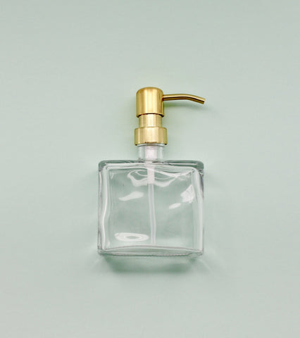 Boxy Matte Gold Soap Dispenser