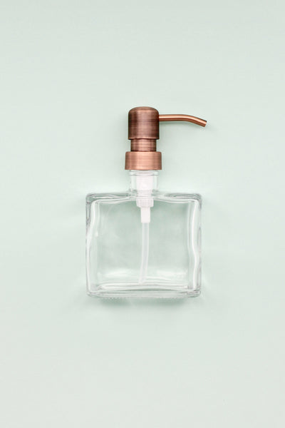 Boxy Brushed Copper Dispenser