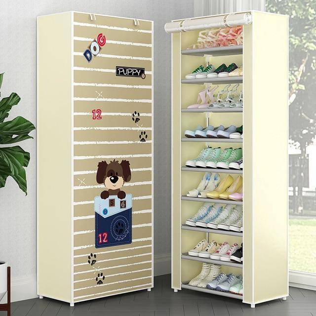 10 Tiers Hallway Shoe Organizer Oxford Cloth Dust-proof Shoes Rack Storage Cabinet For Home Furniture Saving Space Shoes Closet