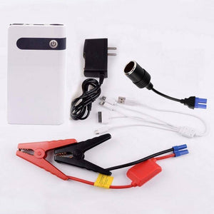 12V Portable Car Jump Starter Power Bank And Emergency Light - Jump Start Up To 2.0L Car