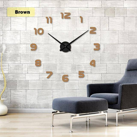 Image of 2019  Free Shipping New Clock Watch Wall Clocks Horloge 3d Diy Acrylic Mirror Stickers Home Decoration Living Room Quartz Needle