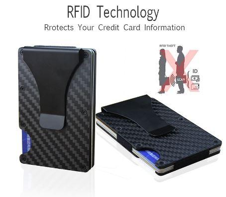 0d7c258239ca 2019 new design minimalist wallet rfid blocking for men carbon fiber wallet  credit card holder