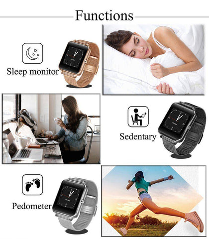 Image of 2019 New Stainless Steel Bluetooth Smart Watch Women Men Sport Waterproof SmartWatch LED Color Touch Screen Watch Support SIM TF