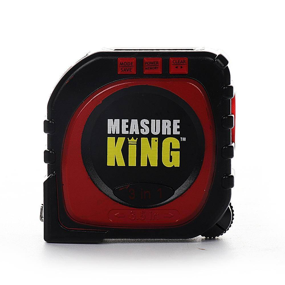 3 In 1 Measure King Digital Tape Measure String Sonic Roller Mode Laser Tool AHY