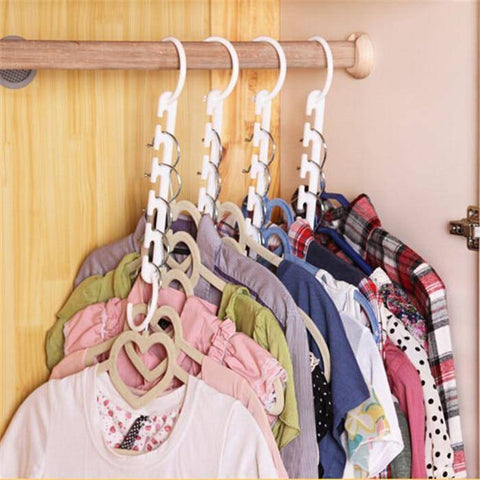 Image of 3D Space Saving Hanger Magic Clothes Hanger With Hook Closet Organizer