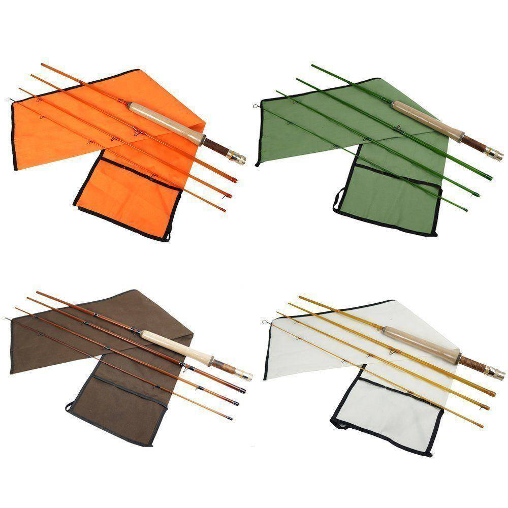4 Colors Fiberglass Fly Rod Medium Action Super Light Fiber Glass Transparent Colors Fly Fishing Rod 4 Section
