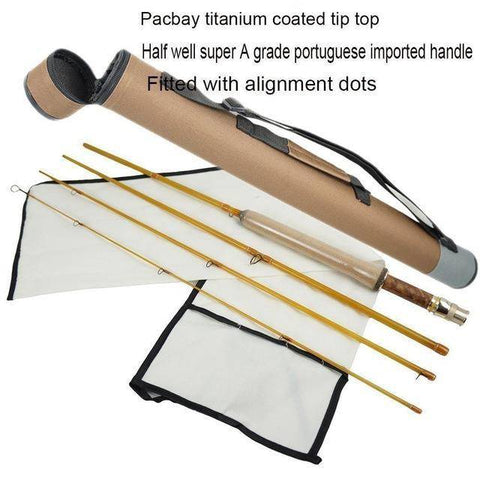 Image of 4 Colors Fiberglass Fly Rod Medium Action Super Light Fiber Glass Transparent Colors Fly Fishing Rod 4 Section