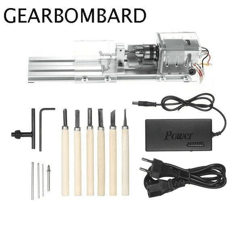 Image of 50% OFF ONLY FOR TODAY-100W DIY Portable Wood carving Mini Lathe Drill
