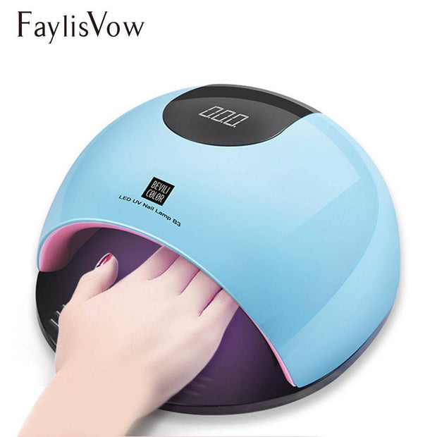 80W UV Nail Dryer For Manicure SUN Light Lamp For Nails Curing All Gel Polish
