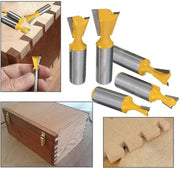 5pcs Dovetail Joint Router Bits Set