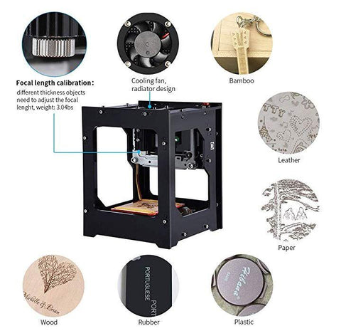 Image of 90% OFF ONLY FOR TODAY - 1000mw Mini Laser Engraver Printer  Woodworking USB CNC Router