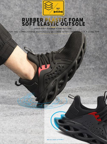 NAILSHOES ™ - Breathable Mesh Puncture Proof Non-Slip Industrial Construction Sneakers Outdoor Footwear