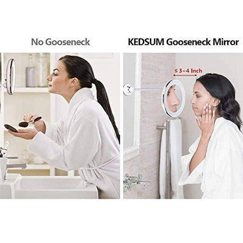 Image of Adjustable Flexible Makeup Mirror With Lights