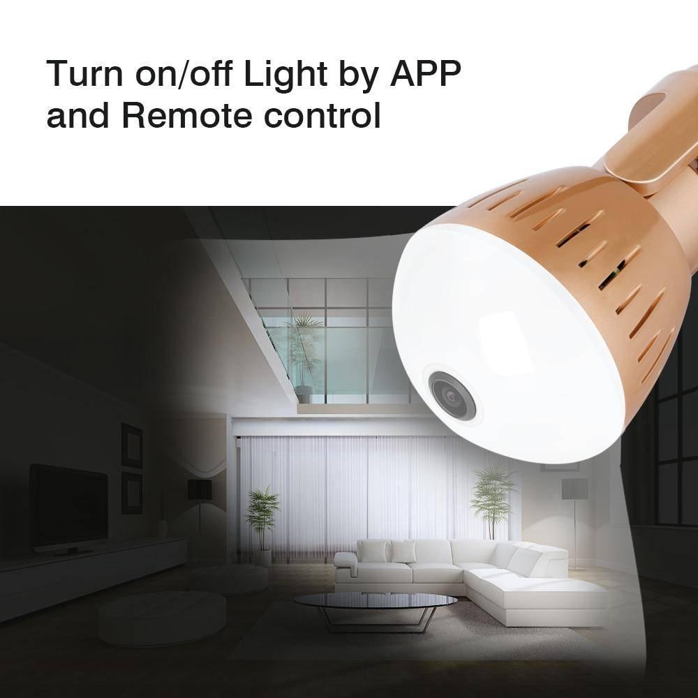 Best Panoramic Bulb Infrared Hidden/spy Wireless   Security Camera