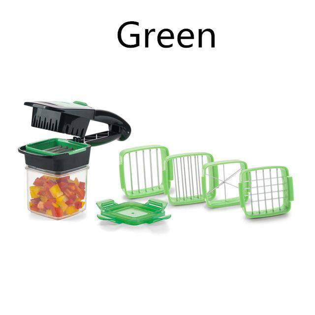 Best  Quick Fruit Vegetable Slicer Dicer With 4 Blace Nicer Kitchen Salad Cooking Shredder Chopper Multi-functional Knife