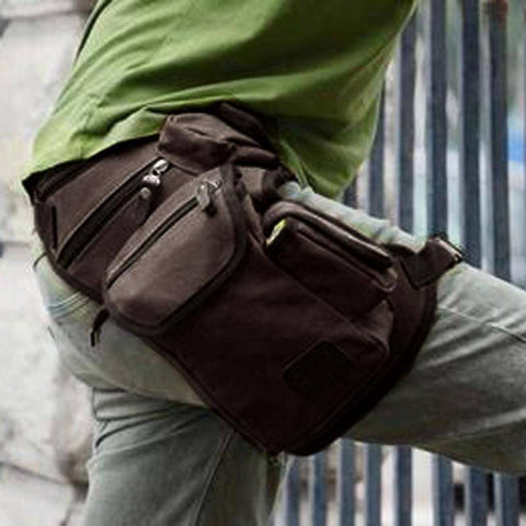 Image of Canvas Drop Leg Bag For: Multi-purpose:woodworking,Military,travel.....
