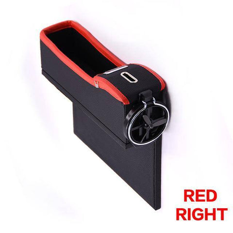 Image of Car Seat Crevice Storage Box Cup Drink Holder Organizer Auto Gap Pocket Stowing Tidying For Phone Pad Card Coin Case Accessories