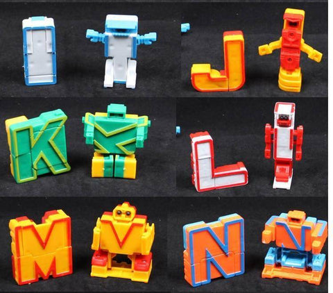 Image of Educational Toys 26pcs English Letters Robot Deformation Alphabet Transformations Puzzle Assembled Birthday Xmas Gifts Kids
