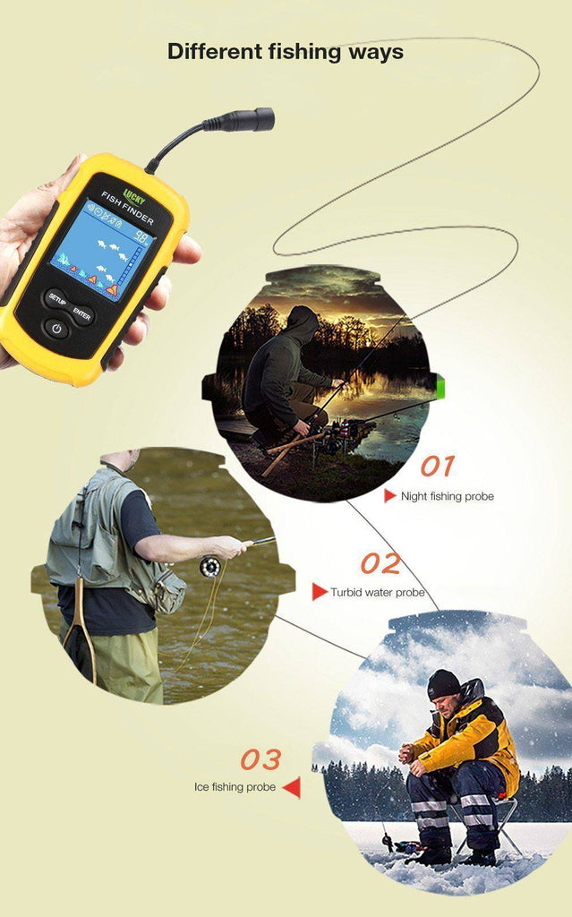 Fish Finder Portable Wireless Sonar Sensor  Detector  For Outdoor Fishing