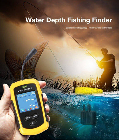 Image of Fish Finder Portable Wireless Sonar Sensor  Detector  For Outdoor Fishing
