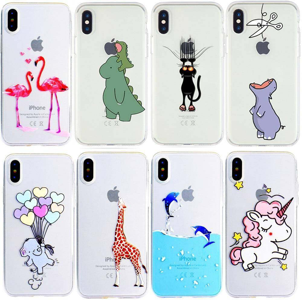 Funny Cute IPhone Case For IPhone 7 6s 6plus 8plus X  Xs Max