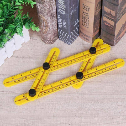 Image of [HIGH QUALITY] Portable Foldable Measuring Tool Protractor Four-Sided Angle Ruler Measurement Woodworking Gauging Tools Foldable Ruler