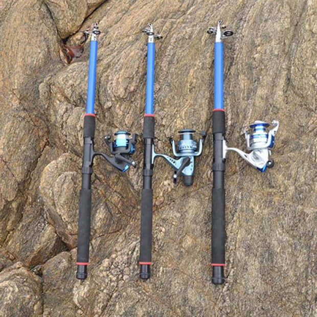 Outdoor Fishing Rod High Strength Fiberglass Sea Rods Telescopic Fishing Rod Pole Fishing Tackle Tools H5