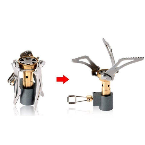 Image of Outdoor Portable Folding Mini Camping Oven Gas Stove Survival Furnace Stove Pocket Picnic Cooking Gas Burner Cooker