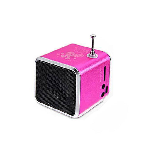 Image of Portable Digital FM Radio Speaker Mini FM Radio Receiver With LCD Stereo Loudspeaker Support Micro TF Card