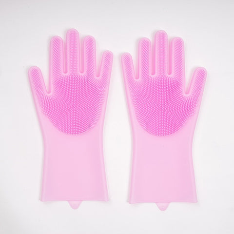 Image of 1 Pair Magic Silicone Washing Gloves