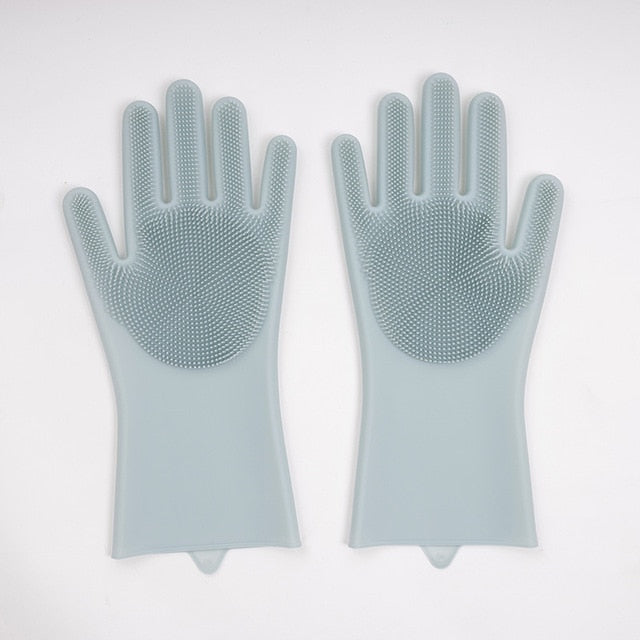 1 Pair Magic Silicone Washing Gloves
