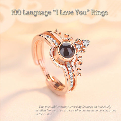 Image of 100 Languages,Love Ring, Best Gift