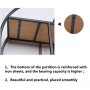 Wall Mounted Iron Shelf Round Floating Shelf