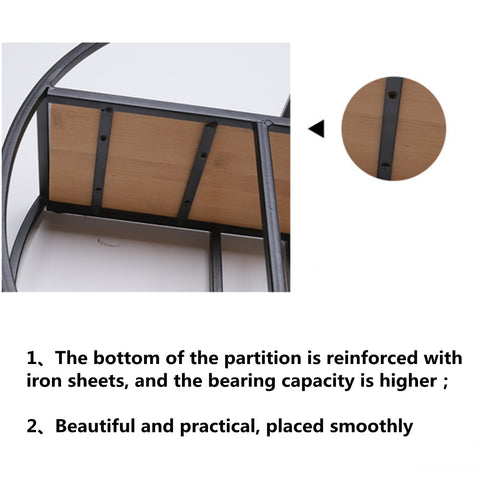 Image of Wall Mounted Iron Shelf Round Floating Shelf