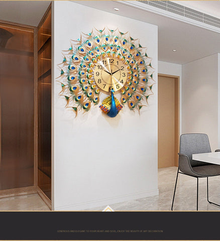Image of Gearbombard 3D Peacock Wall Clock
