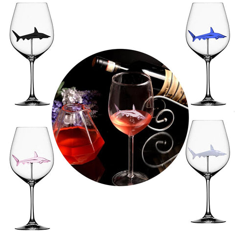 Image of SHARK RED WINE GOBLET/GLASS
