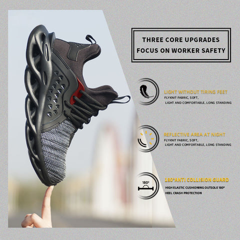Image of NAILSHOES ™ - Breathable Mesh Puncture Proof Non-Slip Industrial Construction Sneakers Outdoor Footwear