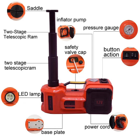 Image of Electric Hydraulic Floor Jack