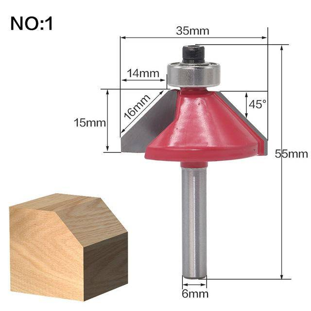 1pc 6mm(0.23inches) Shank wood router bit Straight end mill trimmer