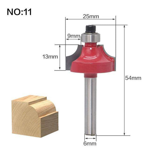 Image of 1pc 6mm(0.23inches) Shank wood router bit Straight end mill trimmer