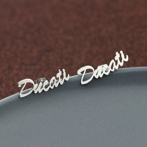 Image of 1 Pair(2pcs) Personalized Custom Name Earrings For Women